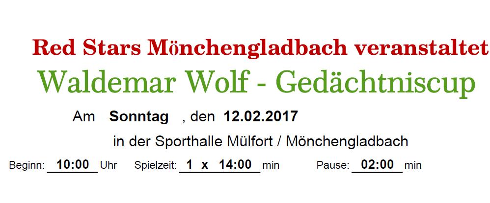 Waldemar Wolf Gedächtniscup 2017 am 12.02.2017