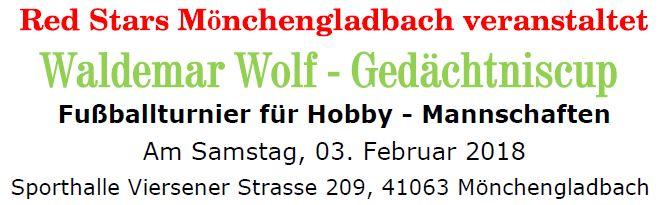 Waldemar Wolf Gedächtniscup 2018 am 03.02.2018