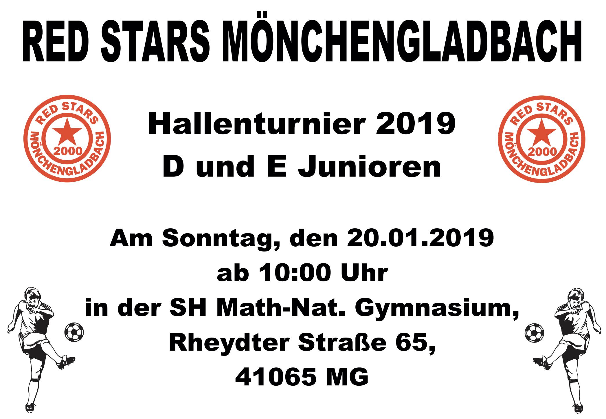 Red Stars Mönchengladbach Hallenturnier 2019 für D und E Junioren